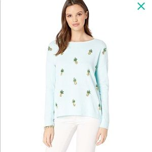 Lilly Pulitzer Caralynn pineapple sweater